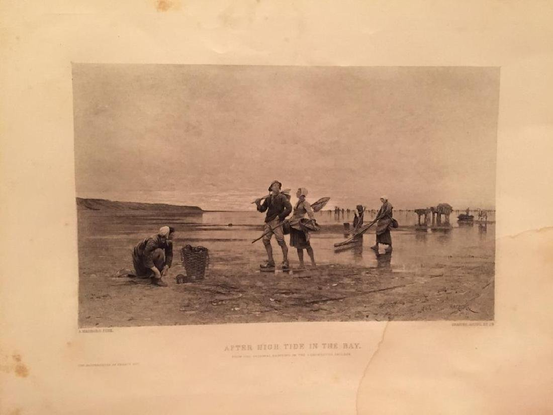 1880's Photogravure Print, Swedish Fishers - 2