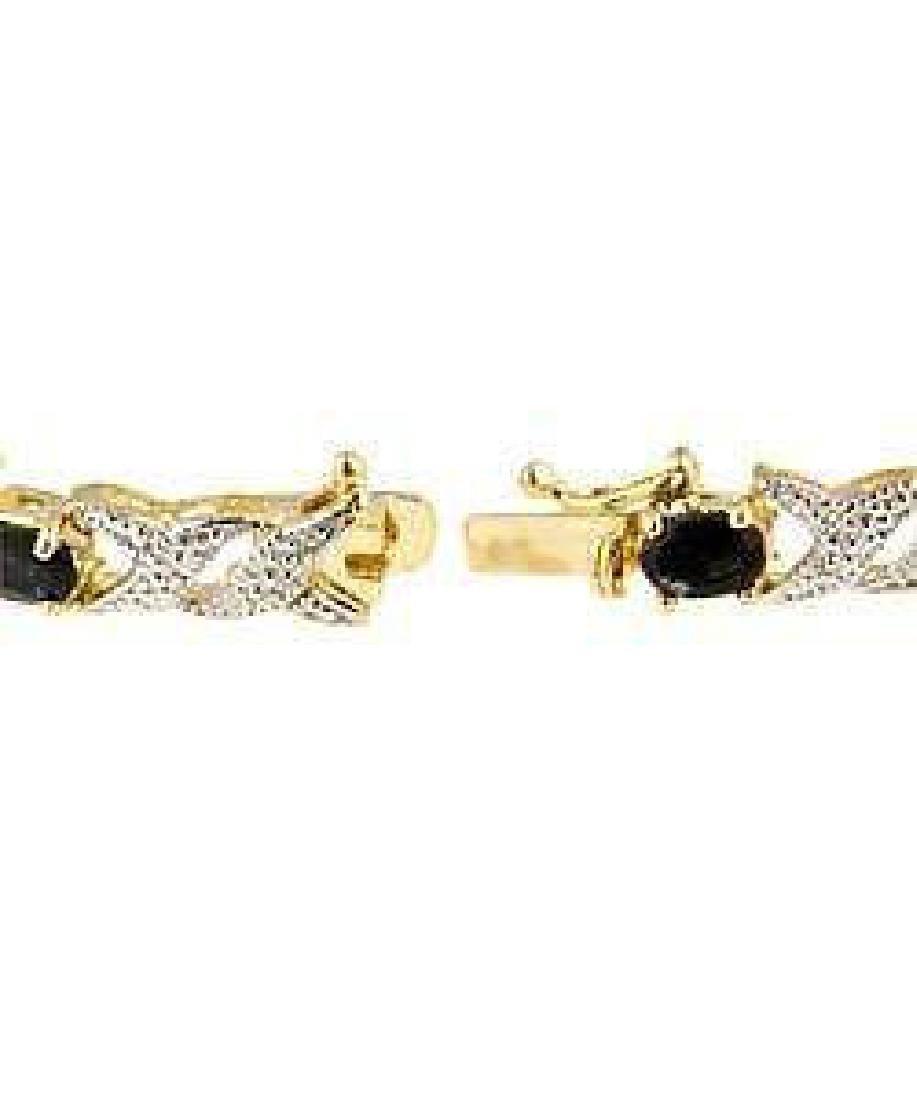 Black Sapphire & Diamond Bracelet - 2