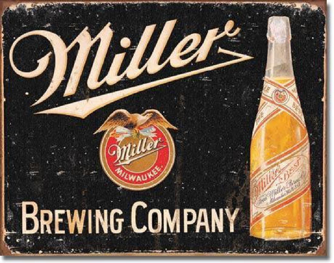 Miller Beer Advertising Tin Sign