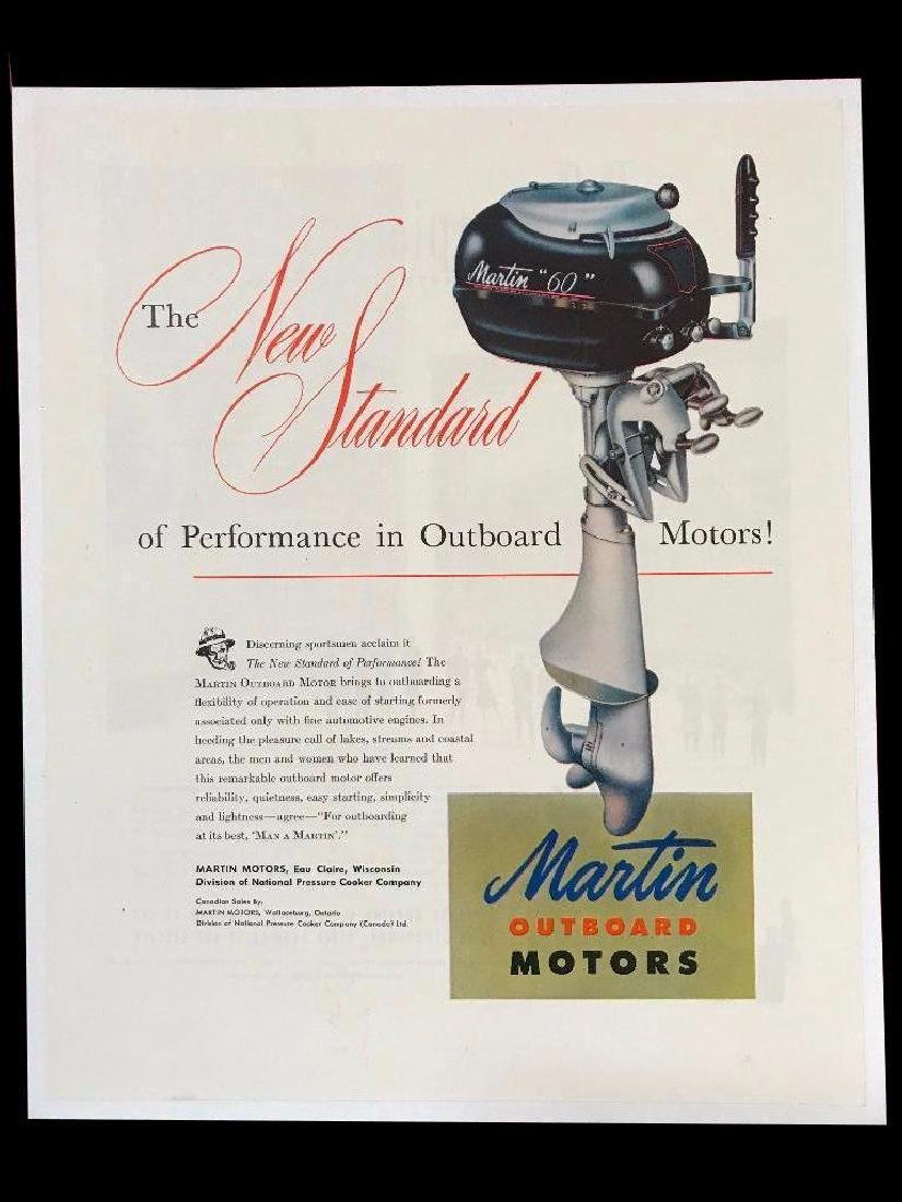c1940's Martin Outboard Boat Motors Magazine