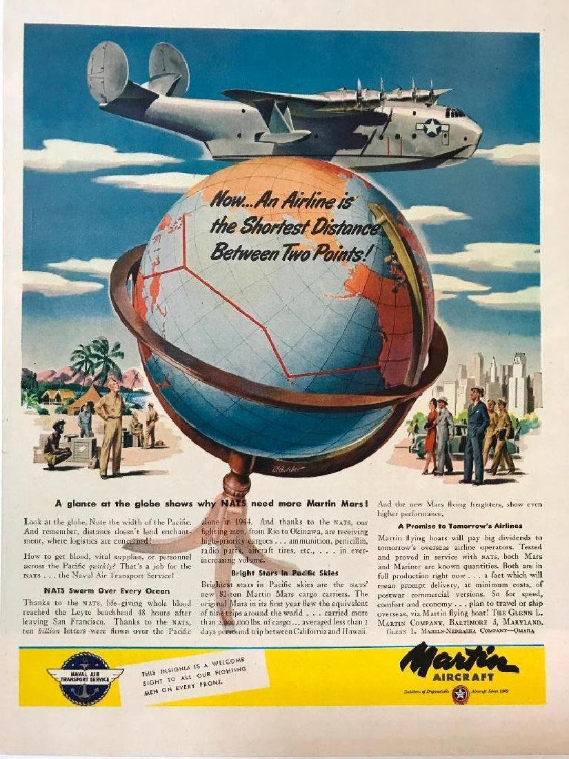 1945 WWII Martin Aircraft Magazine Ad
