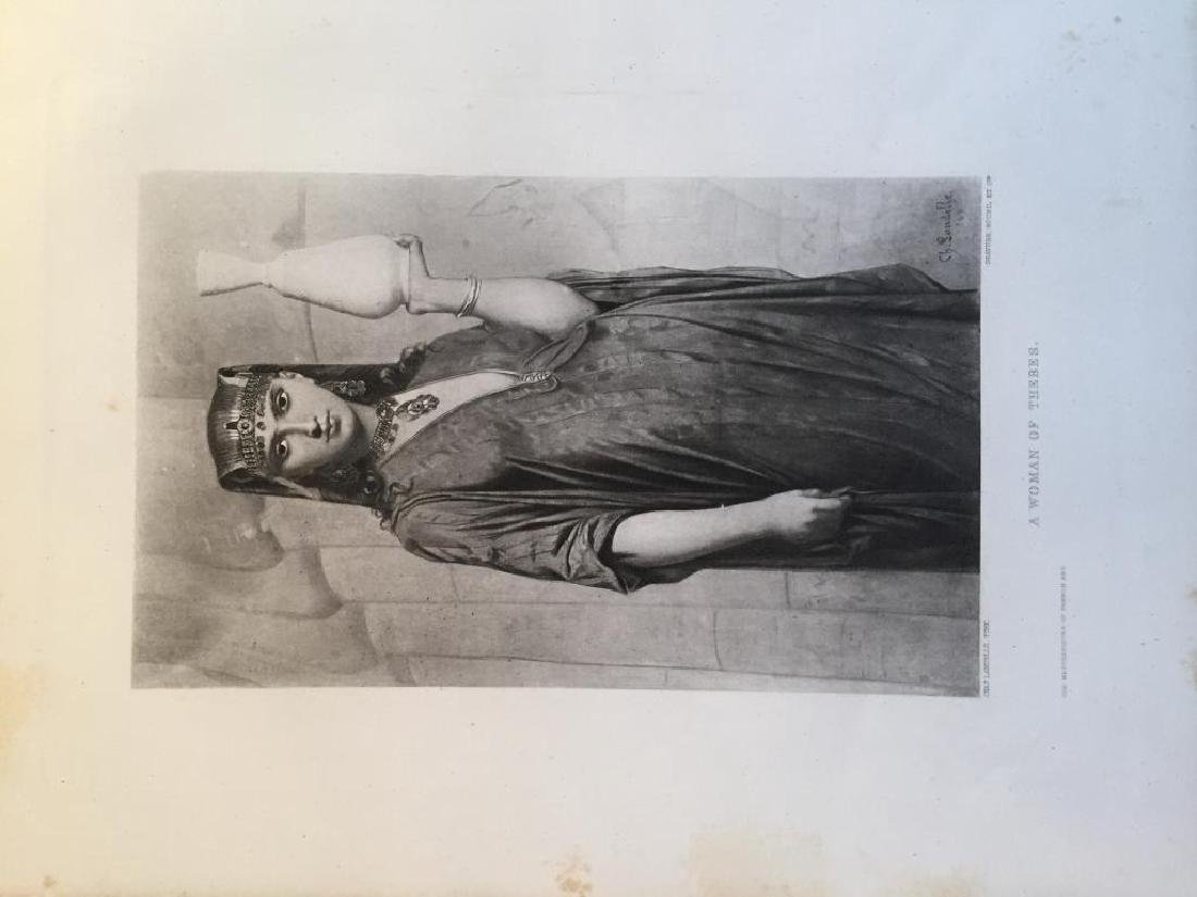 1880's Photogravure, A Woman Of Thebes - 3