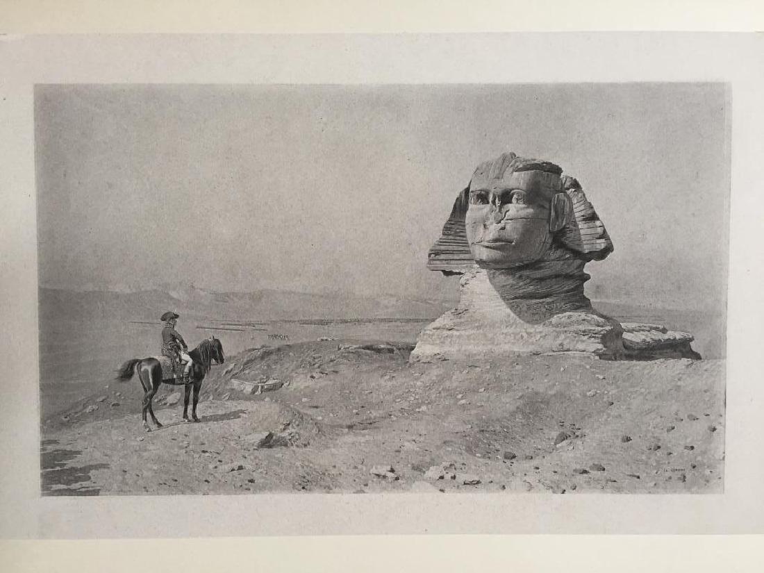 1890's Photogravure, Oedipus, Napoleon & Sphinx
