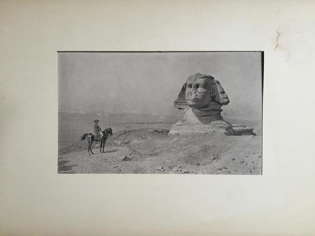 1890's Photogravure, Oedipus, Napoleon & Sphinx - 3