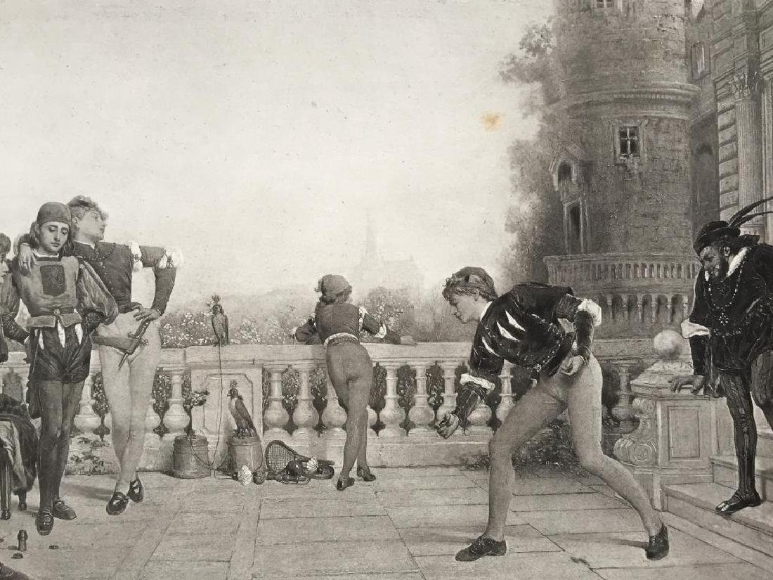 19thc Photogravure, Castle Terrace XV Century