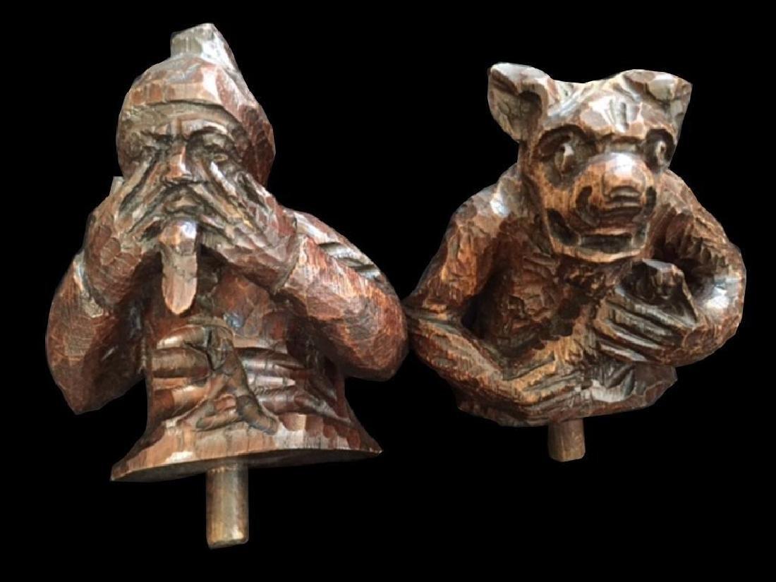 19thc Carved Oak Black Forest Comical Fragments - 2