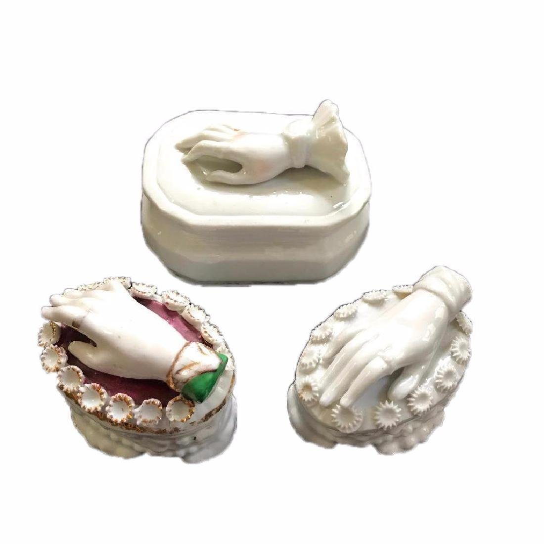 Collection of Three 19thc German Porcelain Victorian