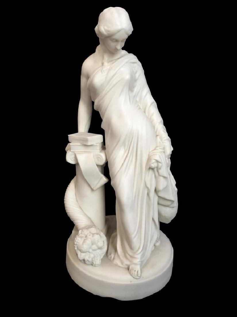 19thc Bisque Parian Ware Classical Sculpture