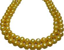 """50"""" Huge Natural Aaa+ 11-13mm South Sea Golden Pearl"""