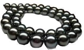 natural 100% 14K AAA+ 9-10mm tahitian black pearl