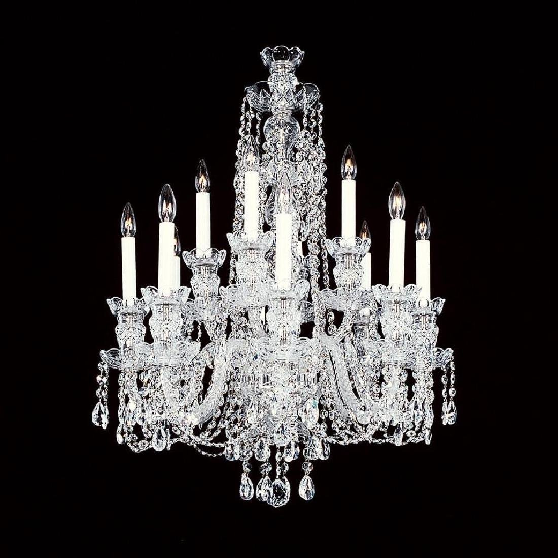 8+4 Small - 12 Light Crystal Chandelier with Swarovski