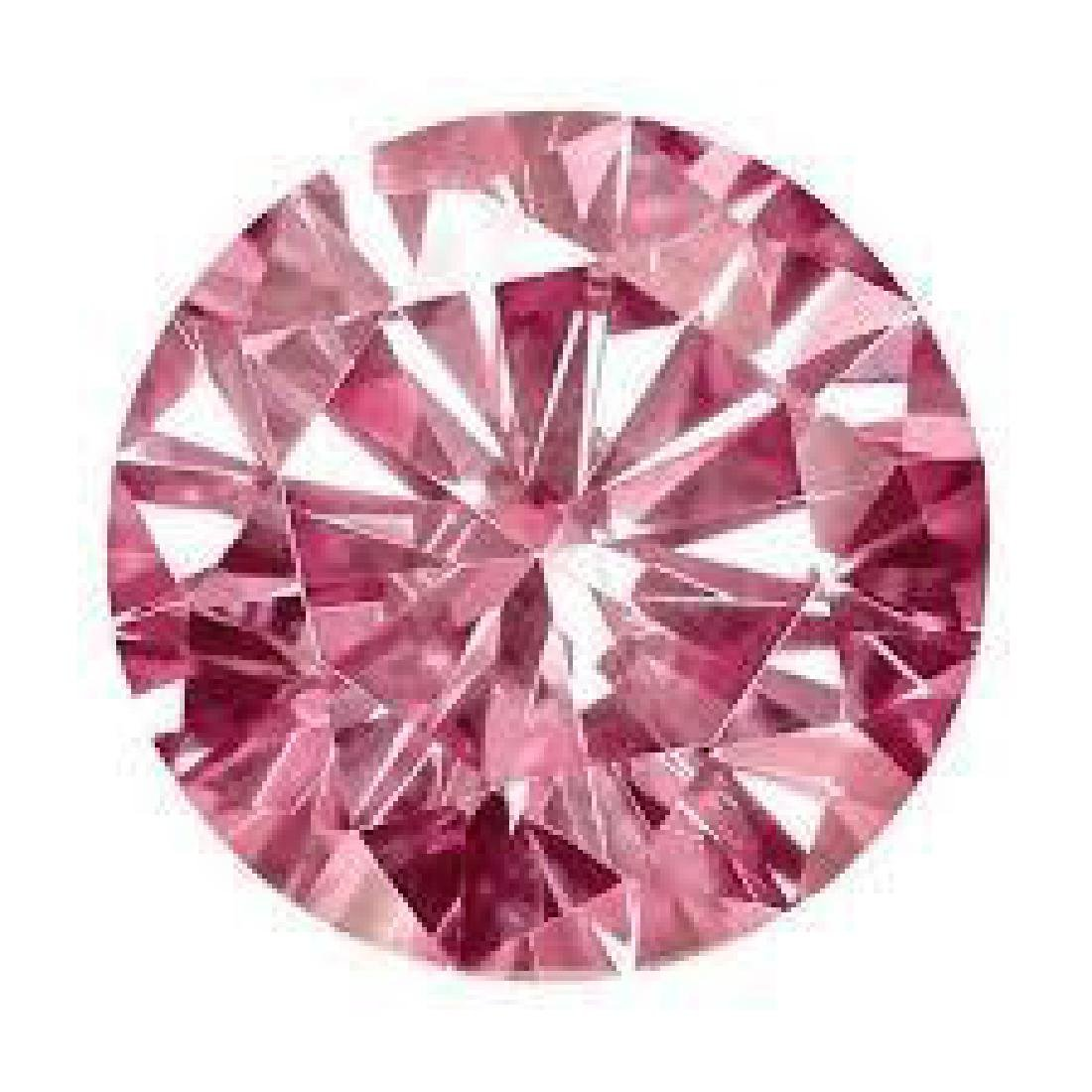 11ct Round Brilliant Cut Pink BIANCO Diamond