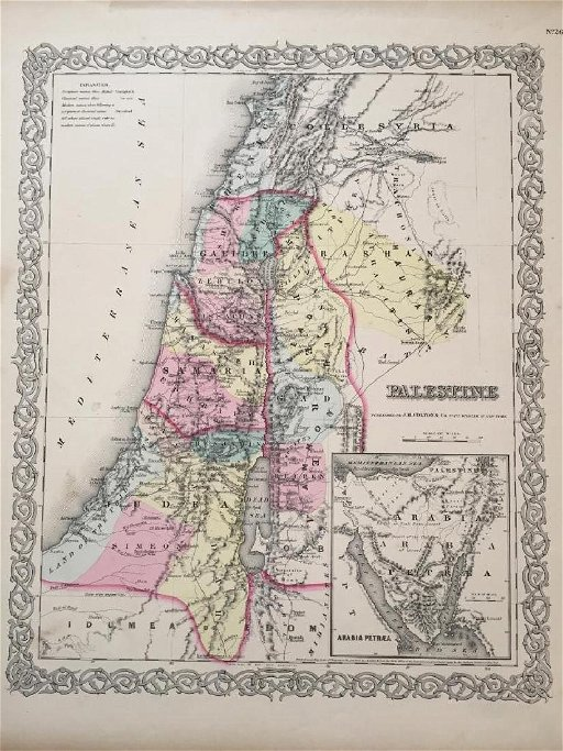 19thc Map of Palestine, Judea,Samaria, Jerusalem on west bank map, mount carmel map, kingdom of judah, israeli settlement, sinai peninsula map, the decapolis map, sea of galilee, iudaea province map, laodicean church map, judea and samaria, dead sea map, aelia capitolina map, philistia map, tell beit mirsim map, old testament holy land map, the whole state map, mount gerizim, damascus map, jordan river map, jezreel valley map, antonia fortress map, middle east map, tyre map, jerusalem map,