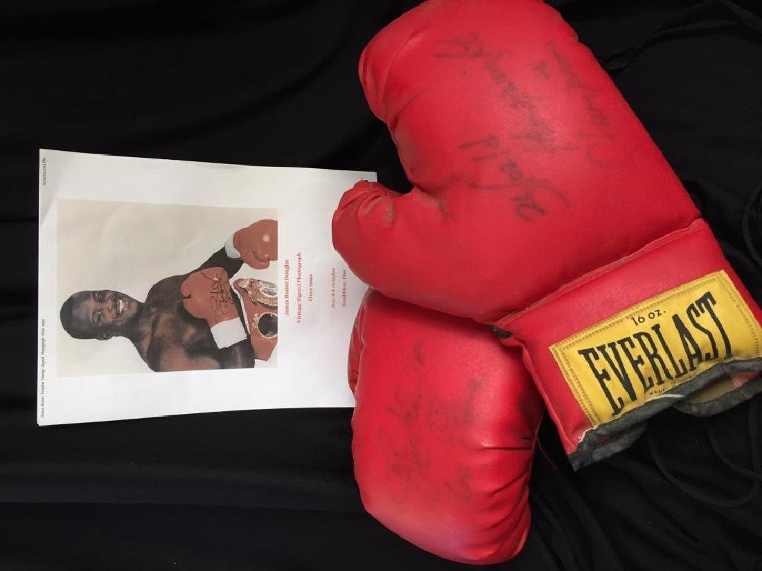 Authentic Buster Douglas Signed Boxing Gloves - 2
