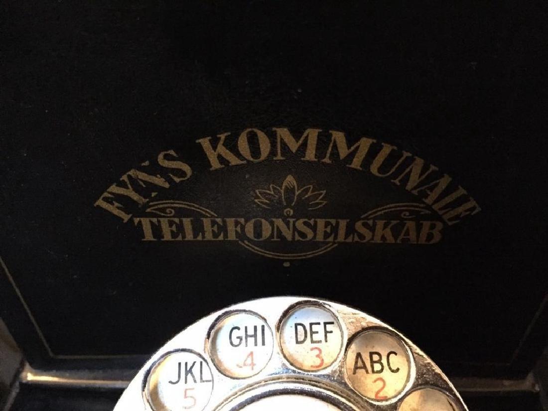 Rare Early 20thc Swedish Hand Crank Telephone - 2