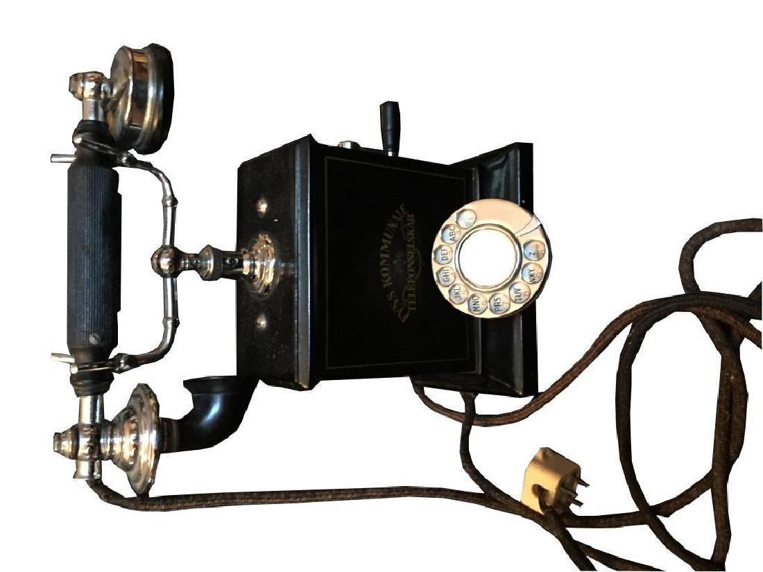 Rare Early 20thc Swedish Hand Crank Telephone - 3