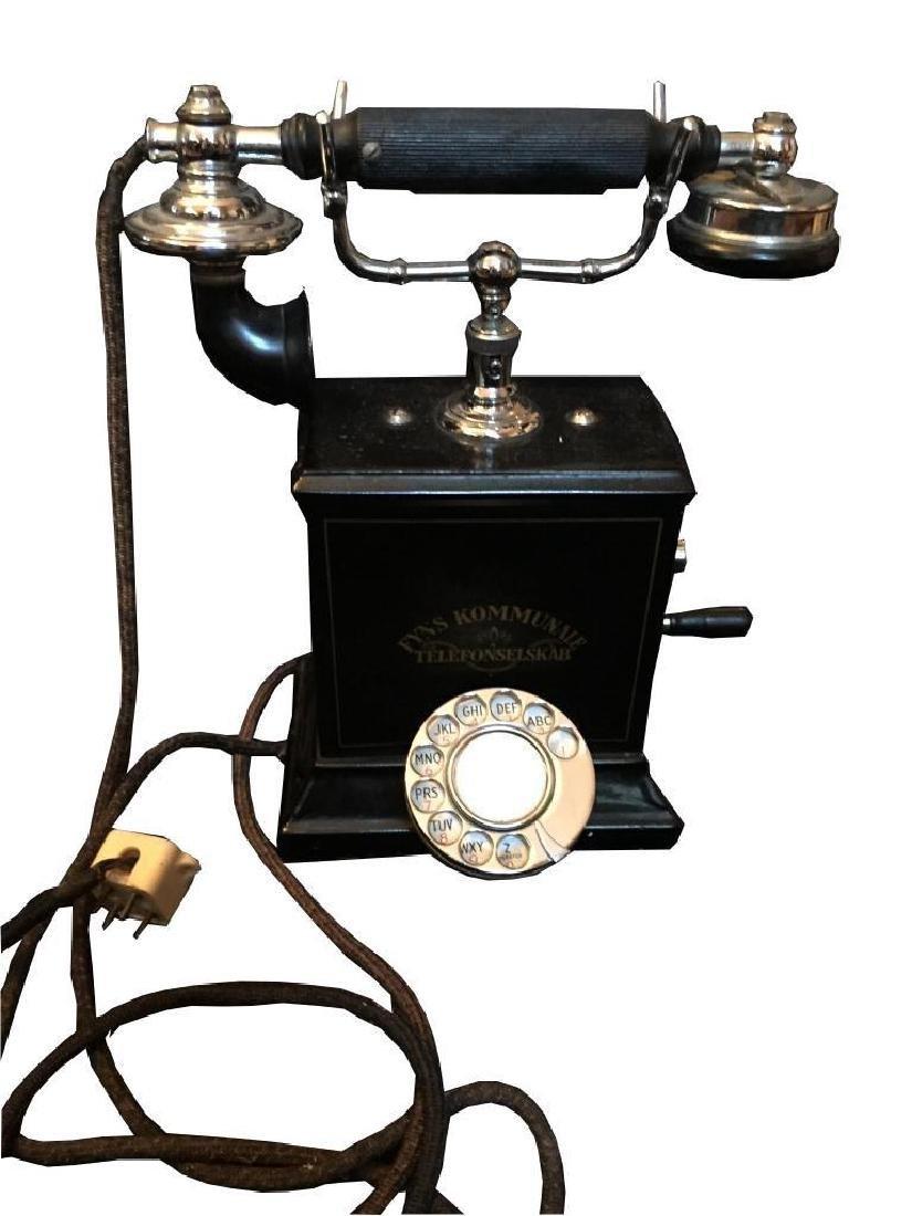Rare Early 20thc Swedish Hand Crank Telephone - 4