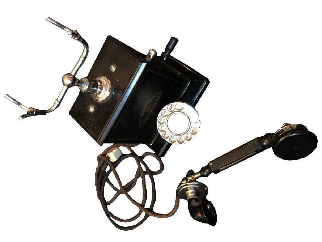 Rare Early 20thc Swedish Hand Crank Telephone - 5