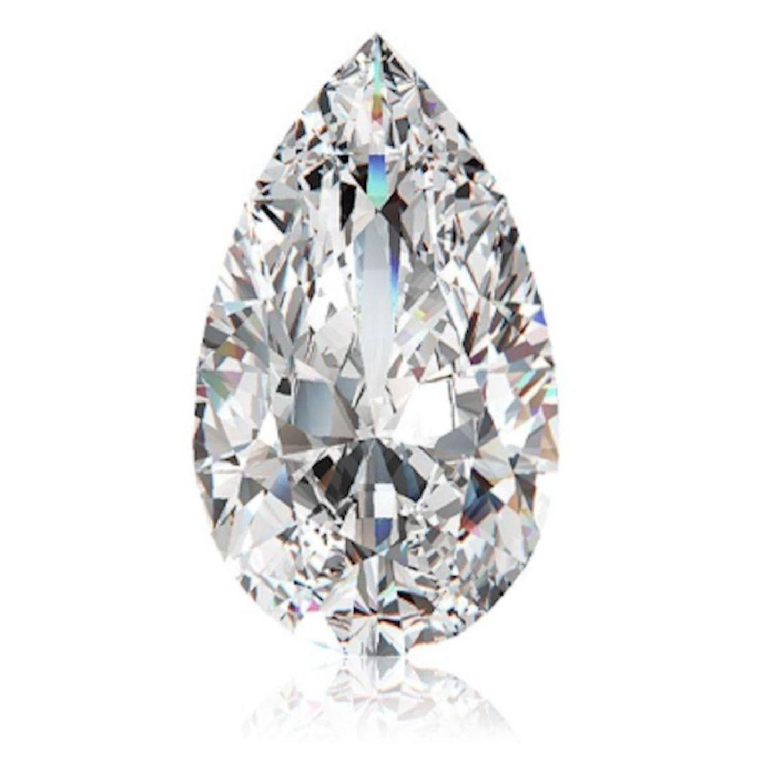 10.21cts Pear Cut Bianco Diamond 6AAAAAA Loose Gemstone