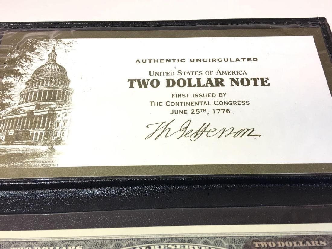 Authentic Uncirculated U.S. Two Dollar Note - 2