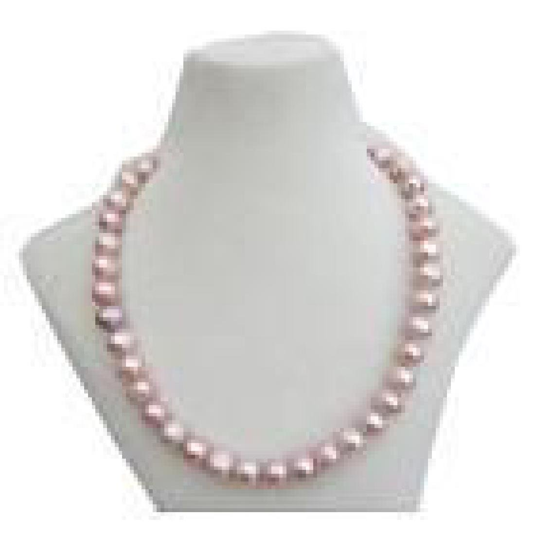 "18"" Natural Pink / Purple 10-11mm South Sea Pearl 14kt"