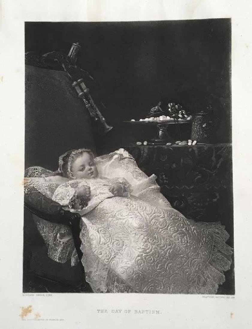 1880's Photogravure Print, The Day of Baptism