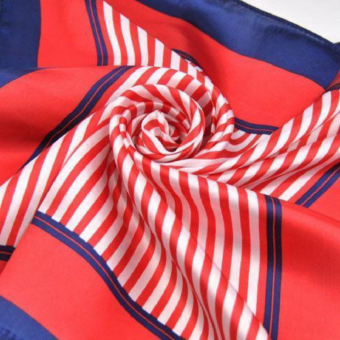 Ladies Patriotic Colors Silk Yachting Scarf
