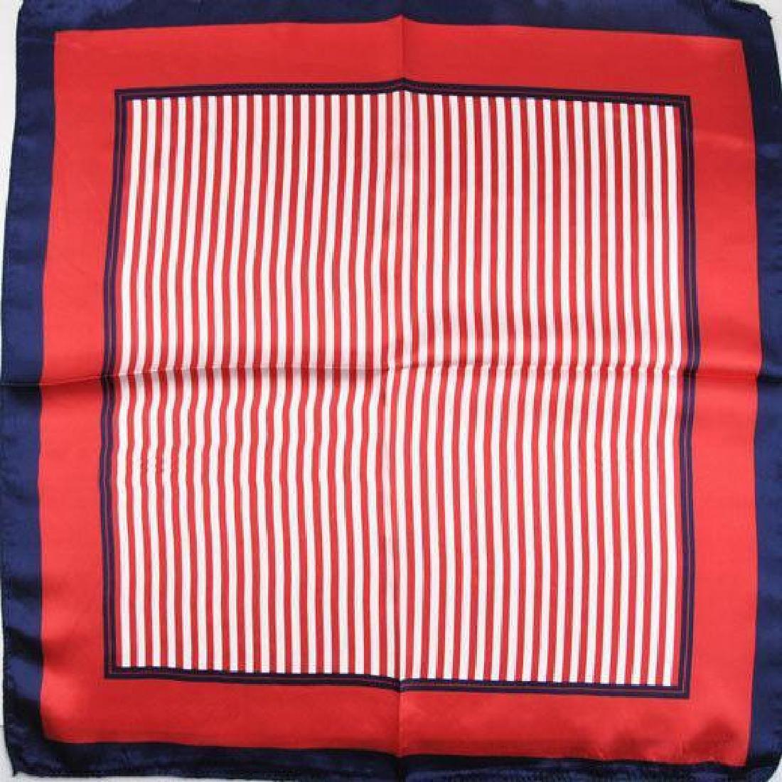 Ladies Patriotic Colors Silk Yachting Scarf - 2