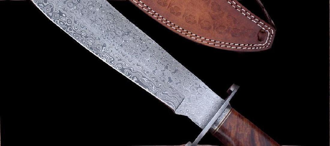 Damascus Knife Custom Handmade - 17.50 Inches WALNUT - 3