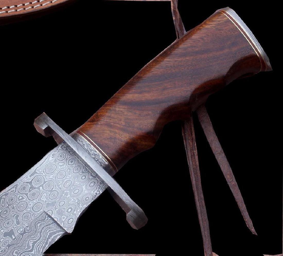 Damascus Knife Custom Handmade - 17.50 Inches WALNUT - 4