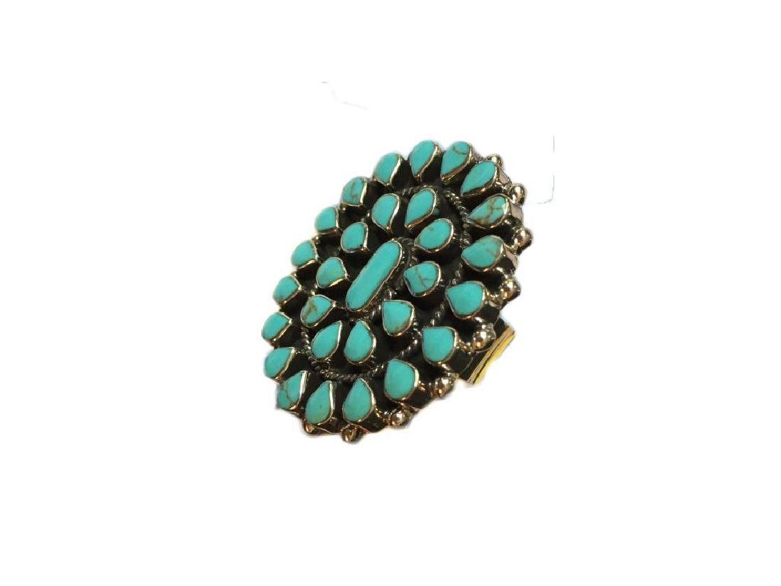 Taxco Mexican Sterling Turquoise Statement Ring