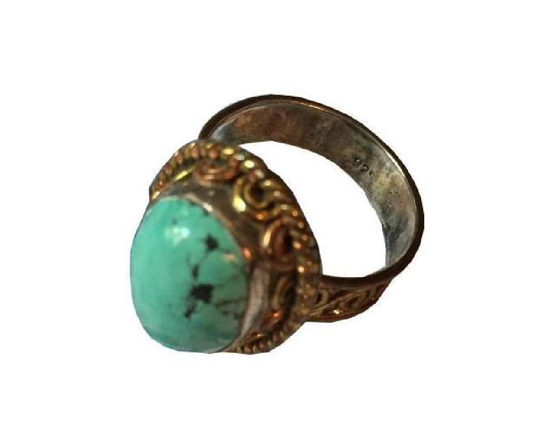Turquoise & Sterling Silver Ring - 2