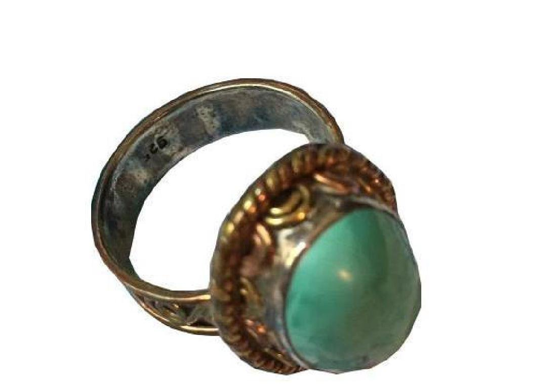 Turquoise & Sterling Silver Ring - 3