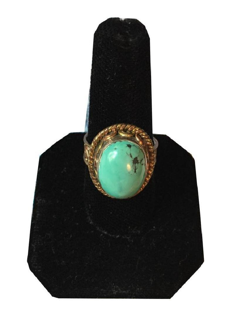 Turquoise & Sterling Silver Ring - 4