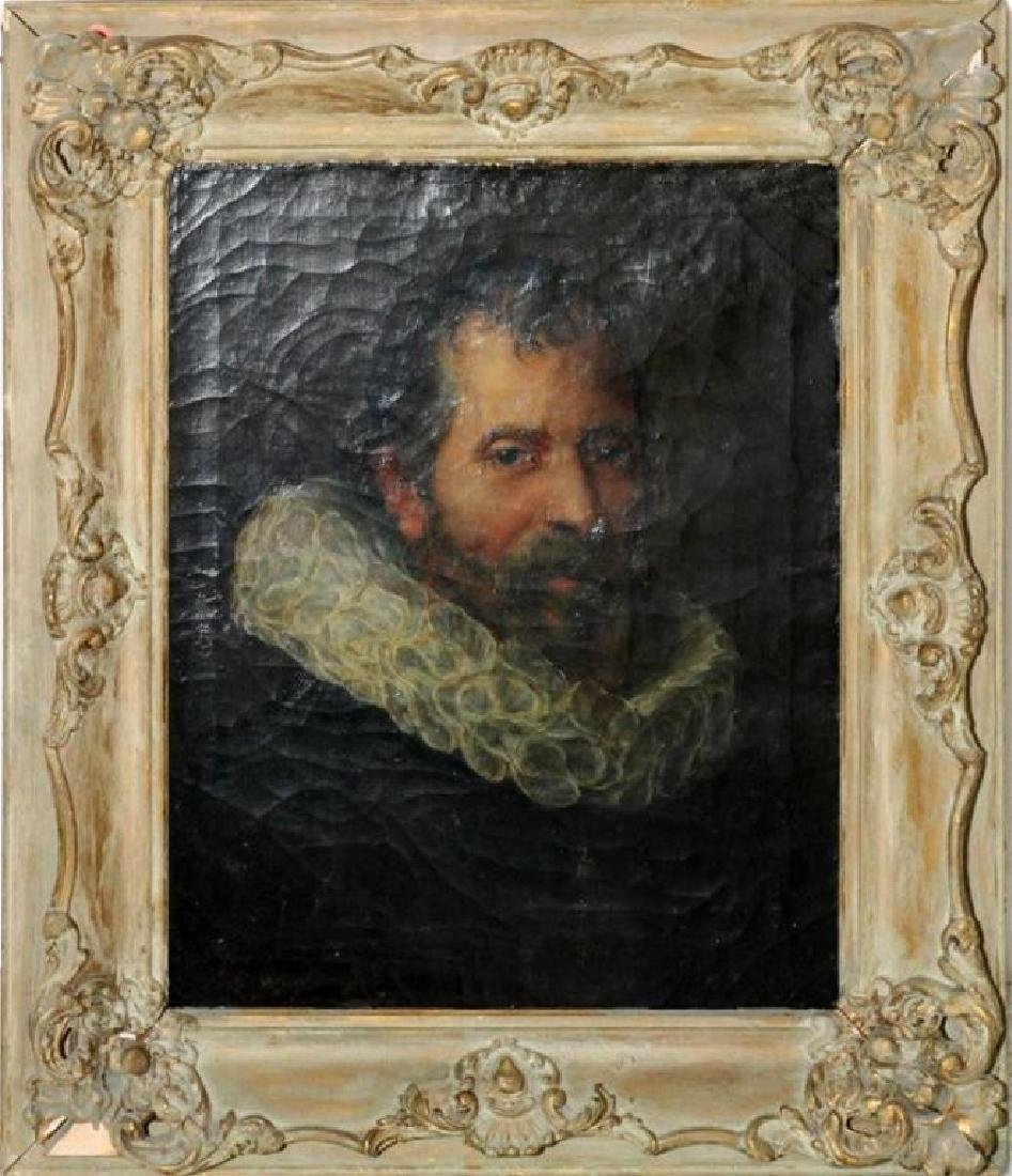 After Velazquez, Oil on Canvas, Portrait of a Man