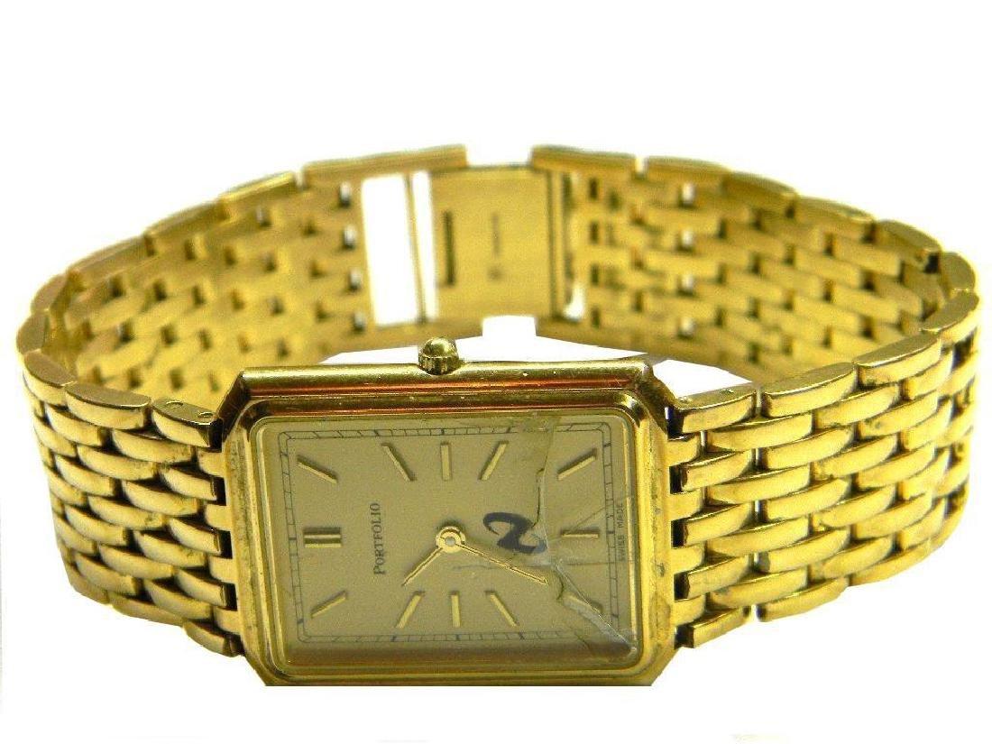 Mens Tiffany & Co Portfolio rectangle tank gold plated