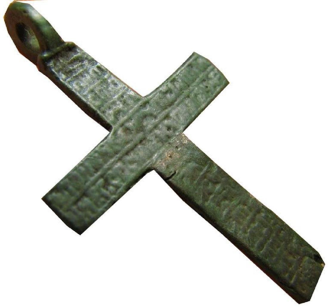 Late Medieval Period Church Bronze Cross - 3