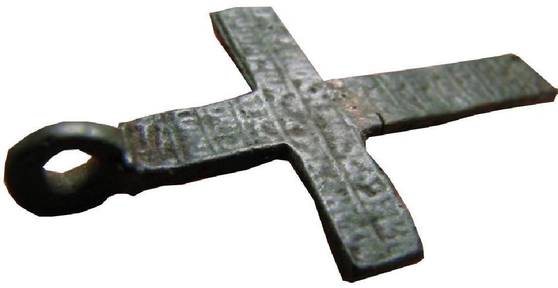 Late Medieval Period Church Bronze Cross - 4