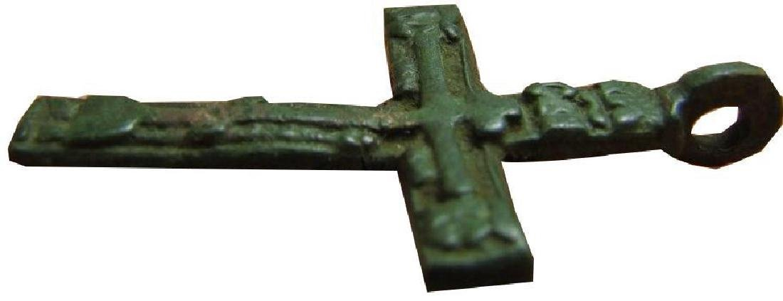 Late Medieval Period Church Bronze Cross - 5