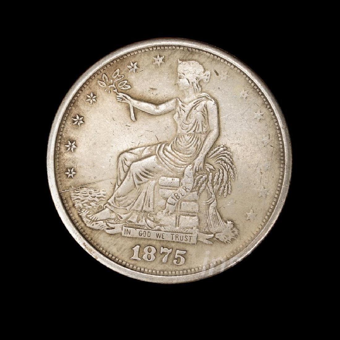 1875 United States Trade Dollar Commemorative Coin - 4