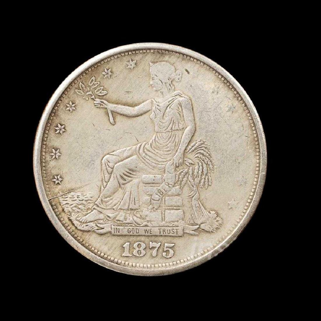 1875 United States Trade Dollar Commemorative Coin - 6