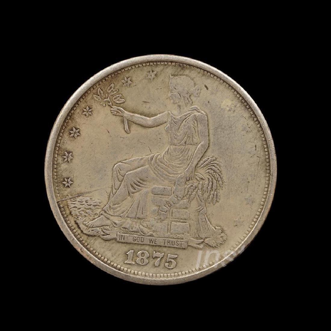 1875 United States Trade Dollar Commemorative Coin - 8