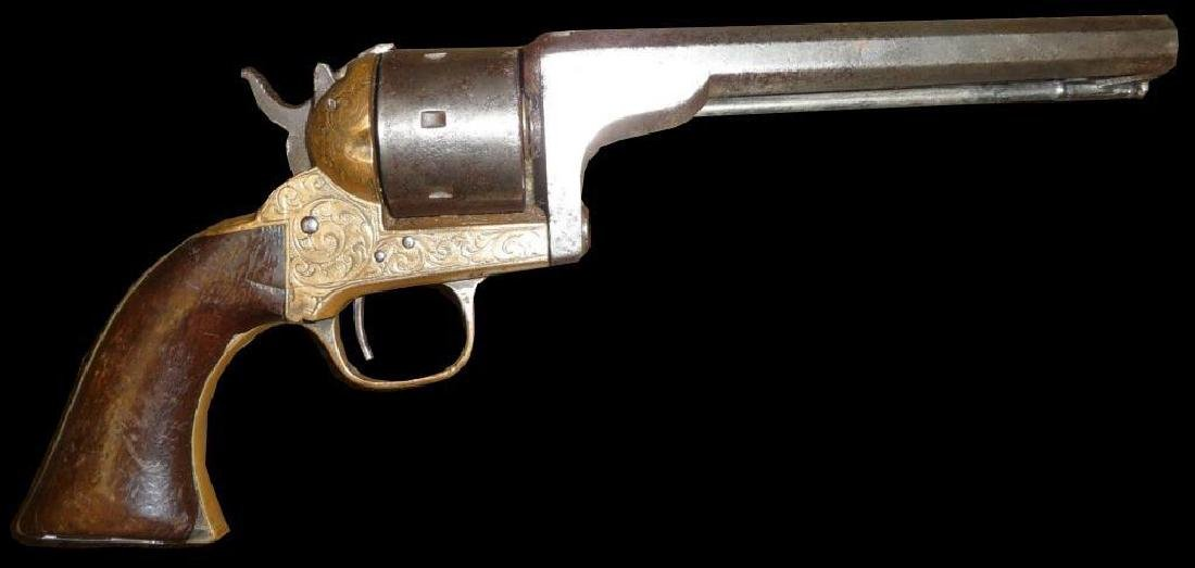 Mid 19thc American Seven Shot Rimfire Revolver
