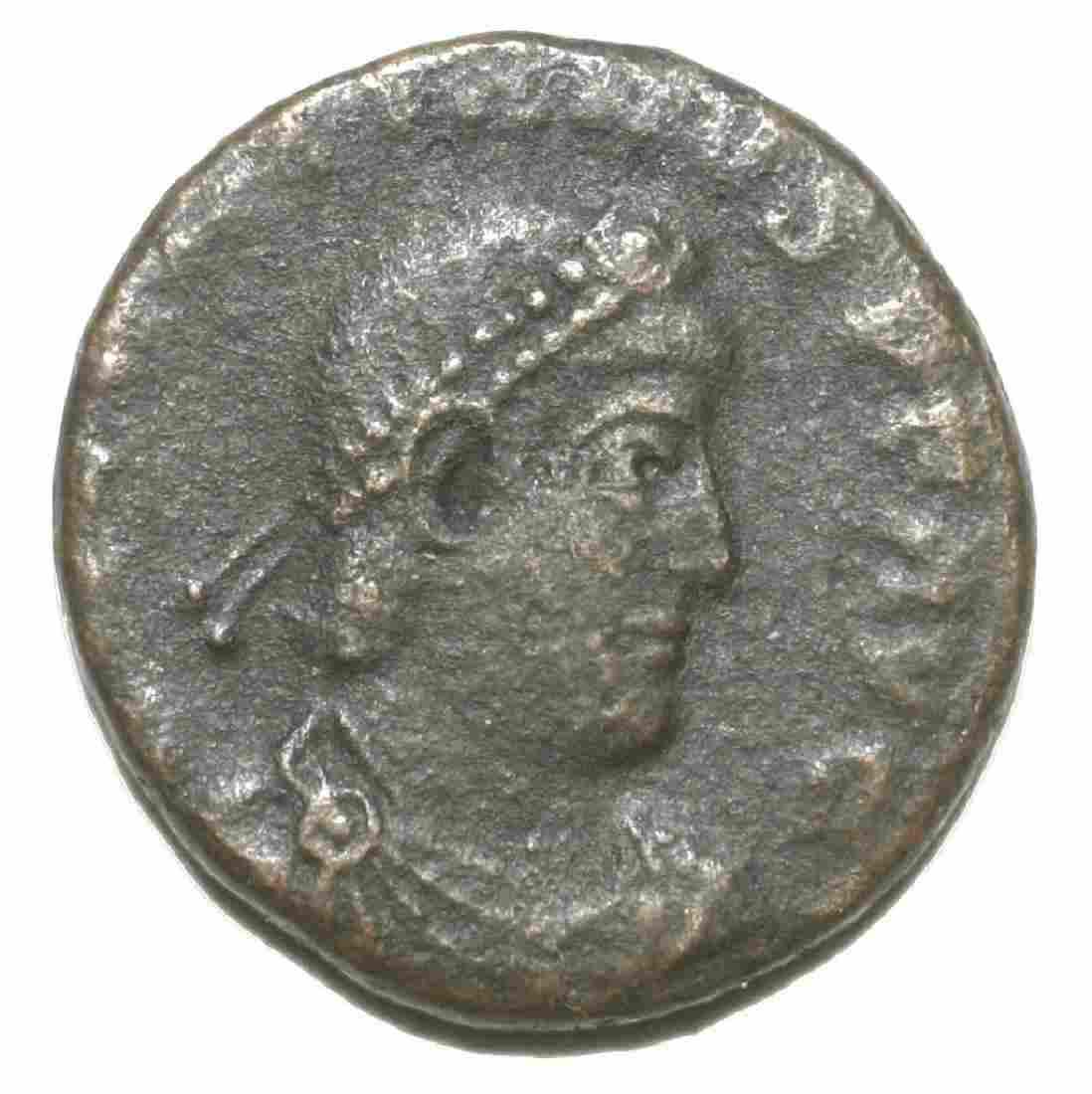 Roman Bronze Coin Follis Valentinianus Gloria Romanorum