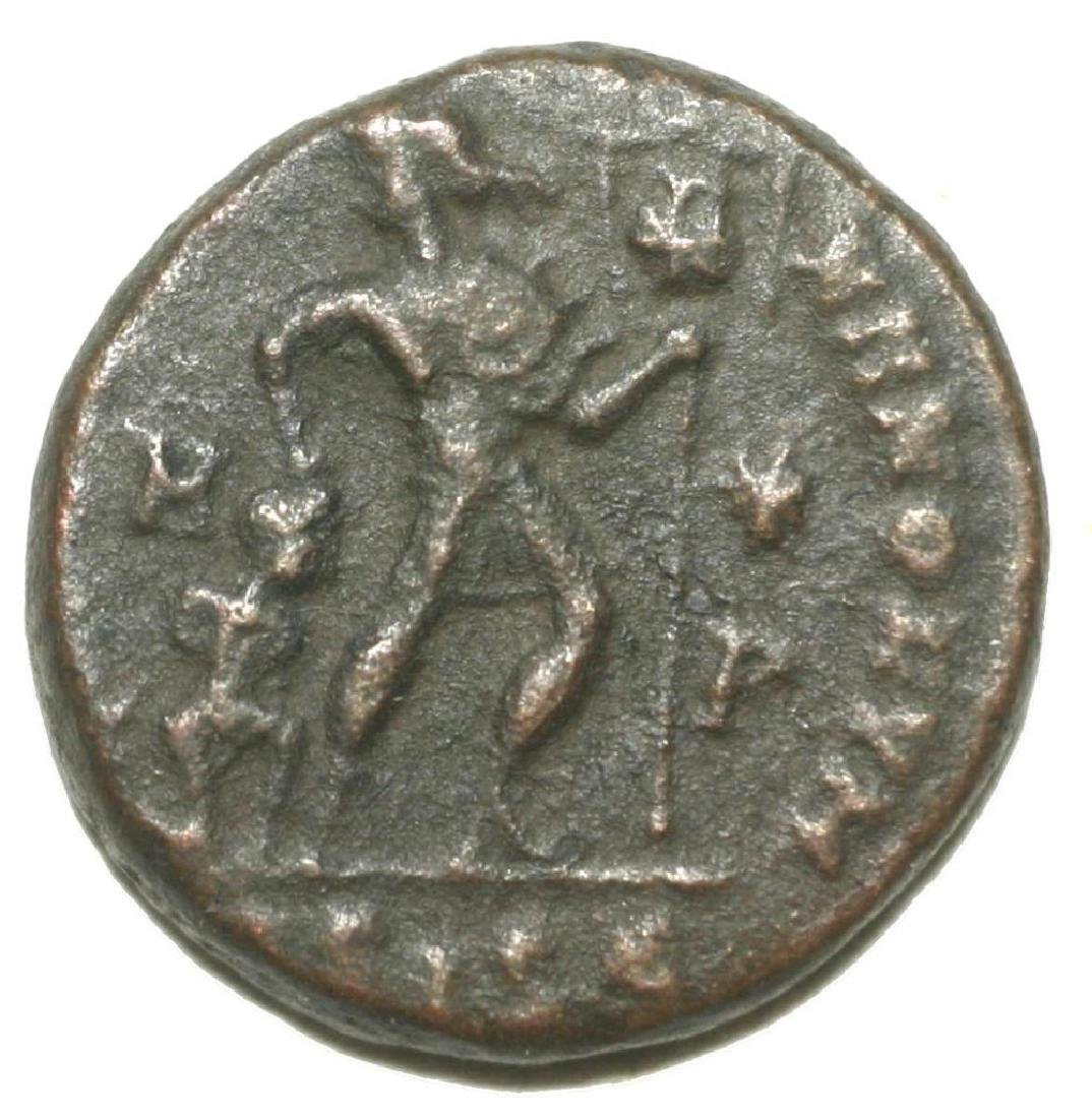 Roman Bronze Coin Follis Valentinianus Gloria Romanorum - 4