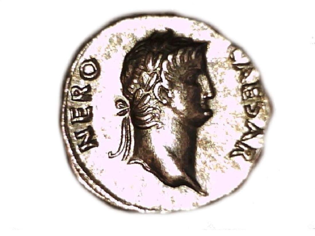 Roman Imperial Emperor Nero Colossus Statue Denarius - 10