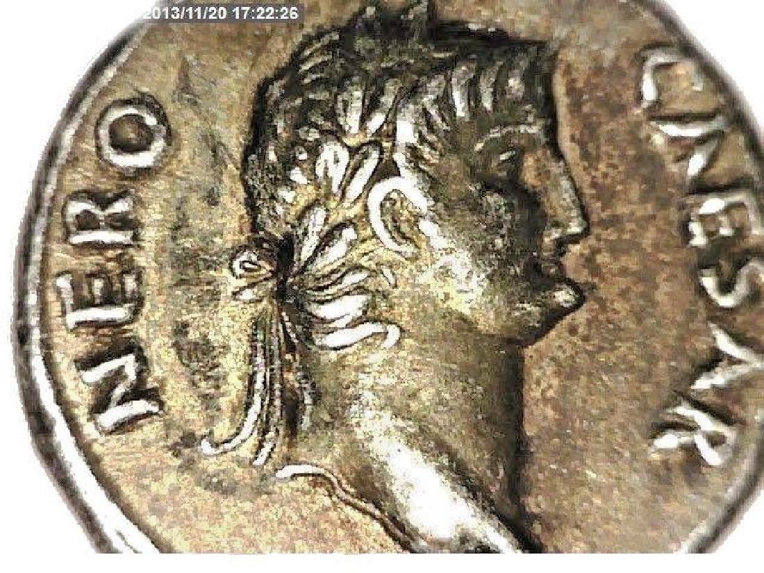 Roman Imperial Emperor Nero Colossus Statue Denarius