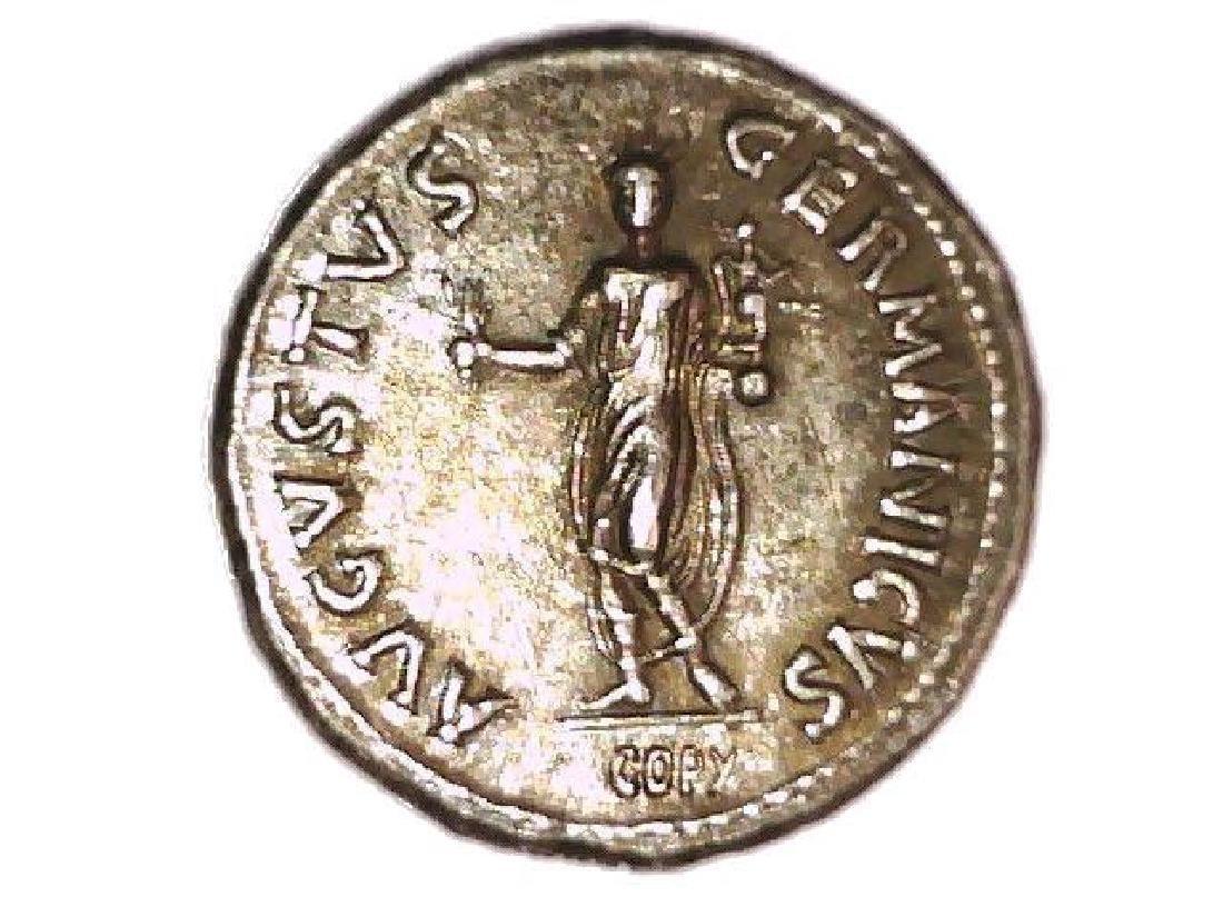 Roman Imperial Emperor Nero Colossus Statue Denarius - 3