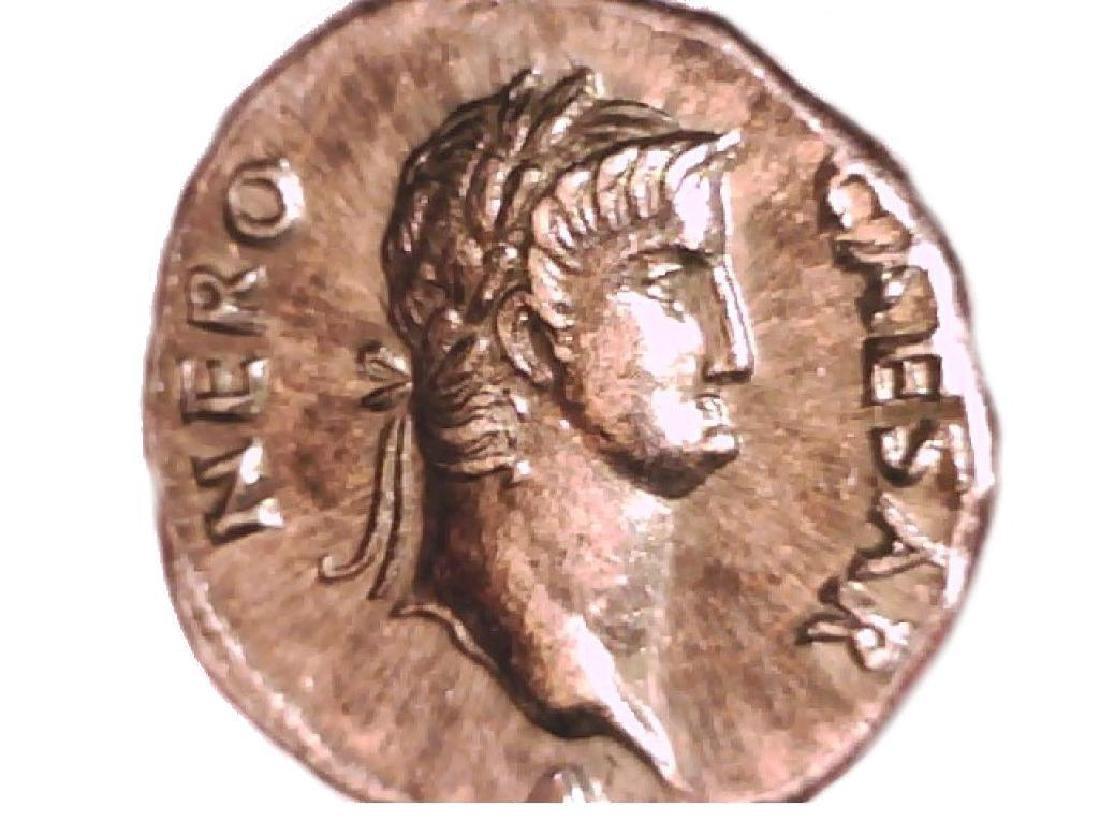 Roman Imperial Emperor Nero Colossus Statue Denarius - 4