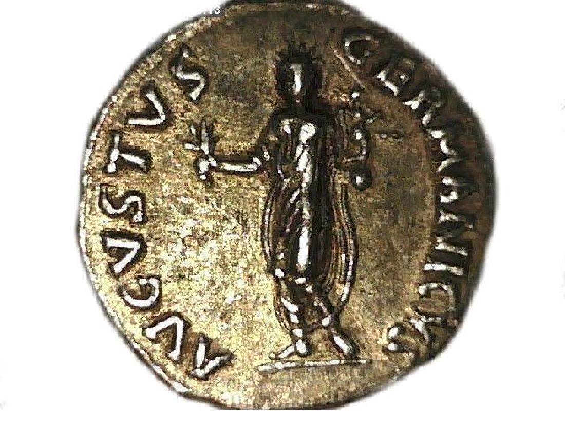 Roman Imperial Emperor Nero Colossus Statue Denarius - 5